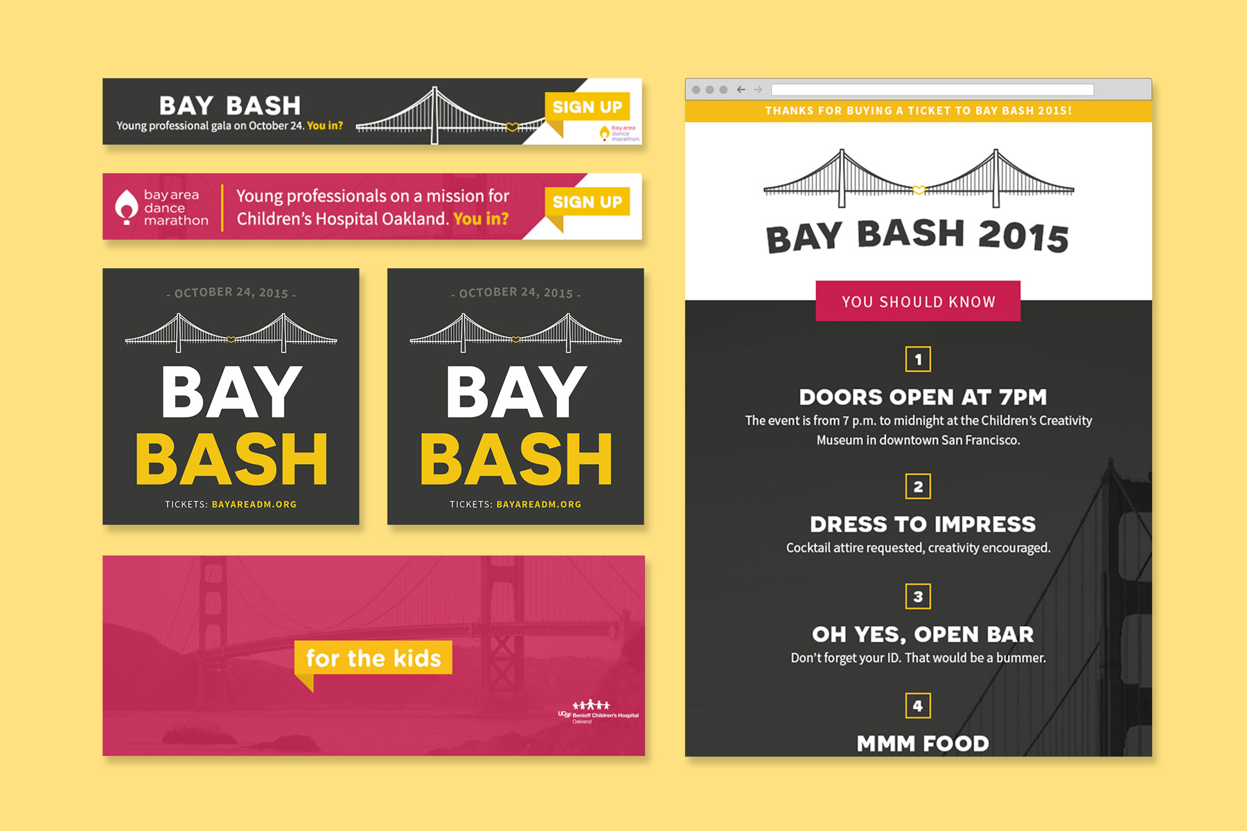 Bay Area Dance Marathon Digital Design